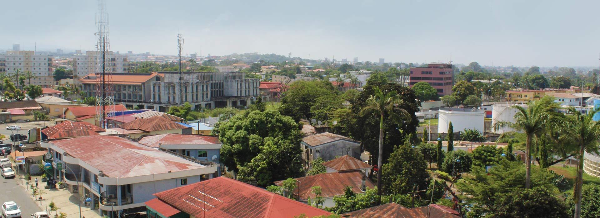 Vistas desde el Hotel Impala Malabo